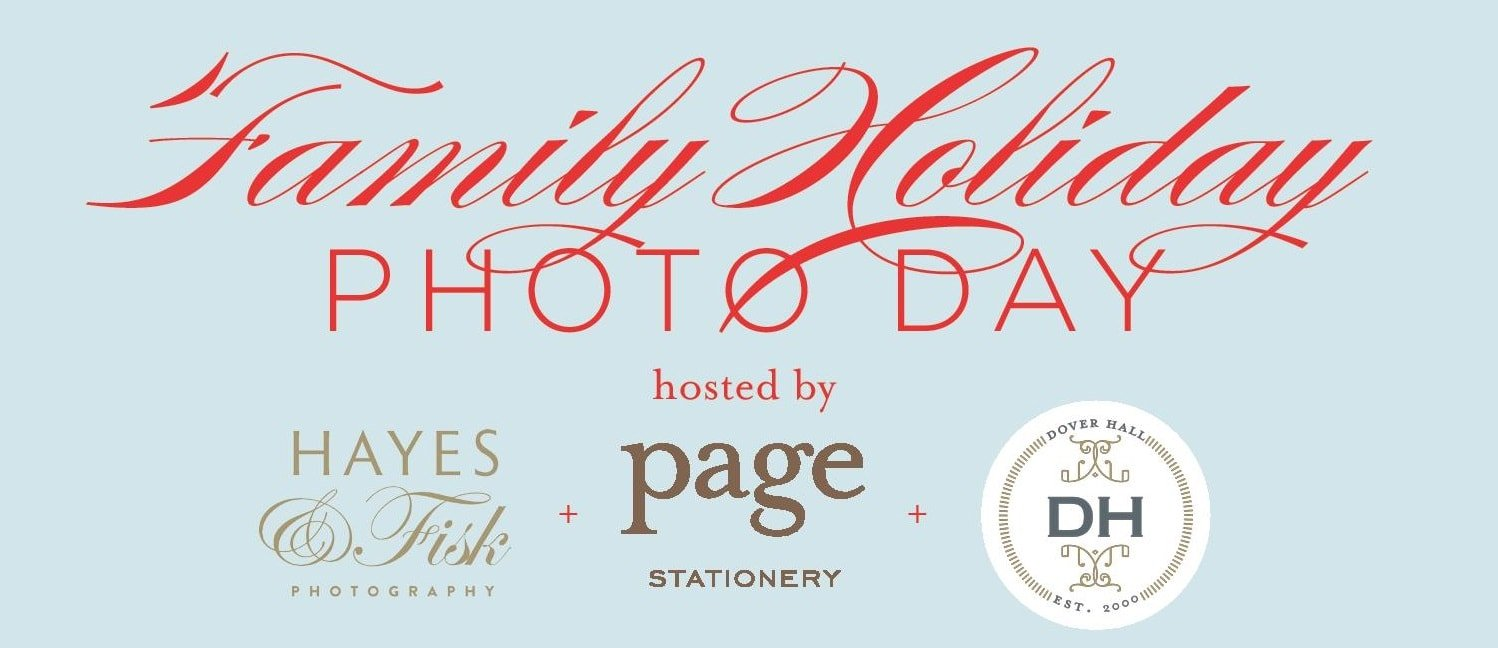 family holiday photo day with page stationery