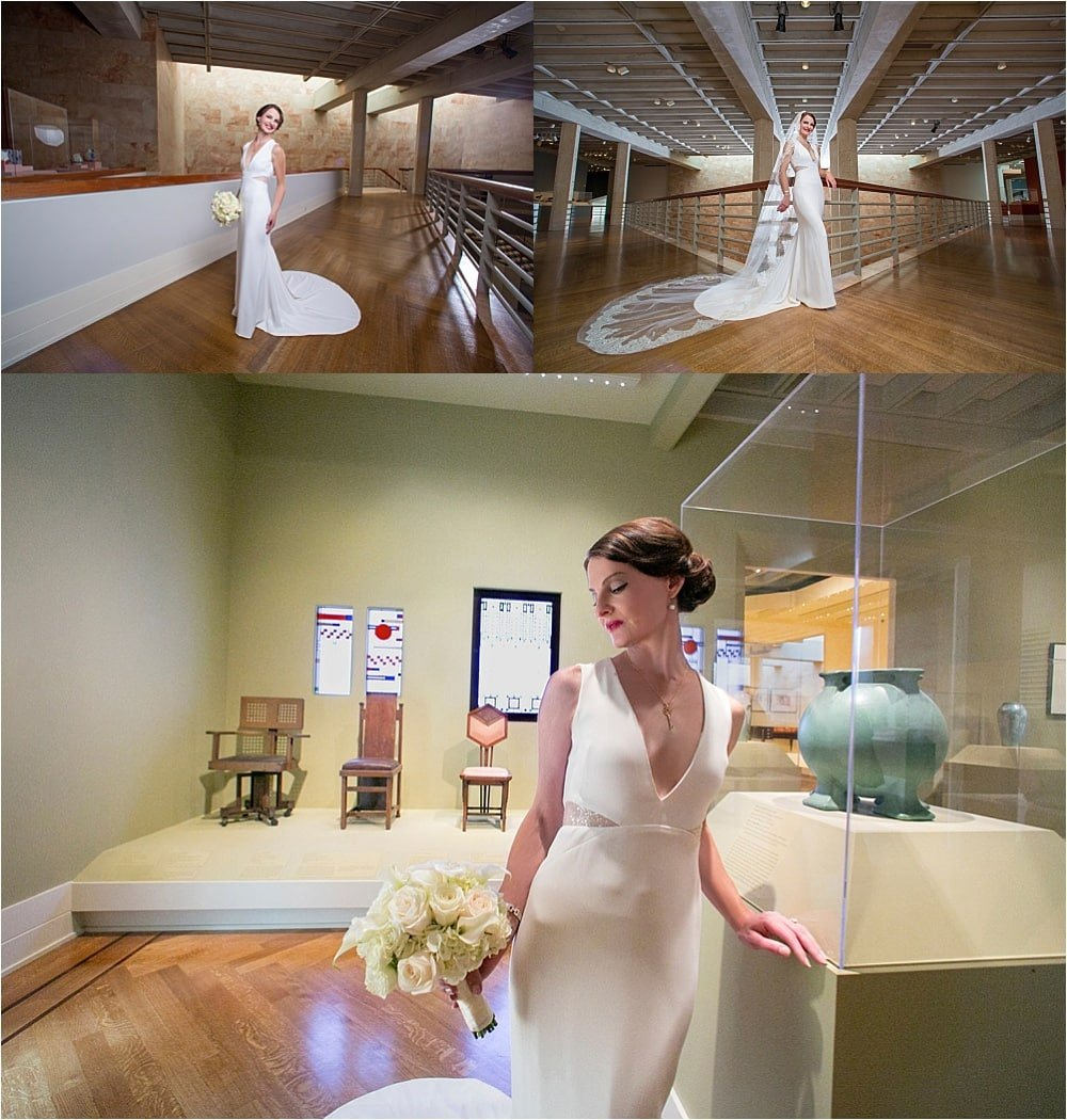 Modern VMFA Bridal Portrait Session