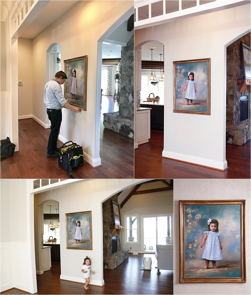 Masterpiece Oil Portrait Installation