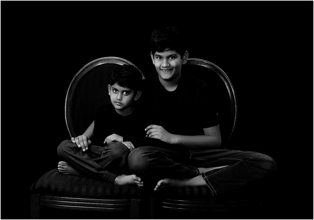 Masood Family Black and White